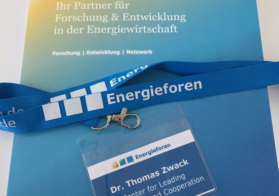 (Deutsch) CLIC-Fellow Dr. Thomas Zwack beim Partnerkongress der Energieforen Leipzig